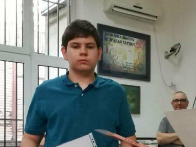 """Јеврем Недељковић победник такмичења """"Читам, па шта!"""""""